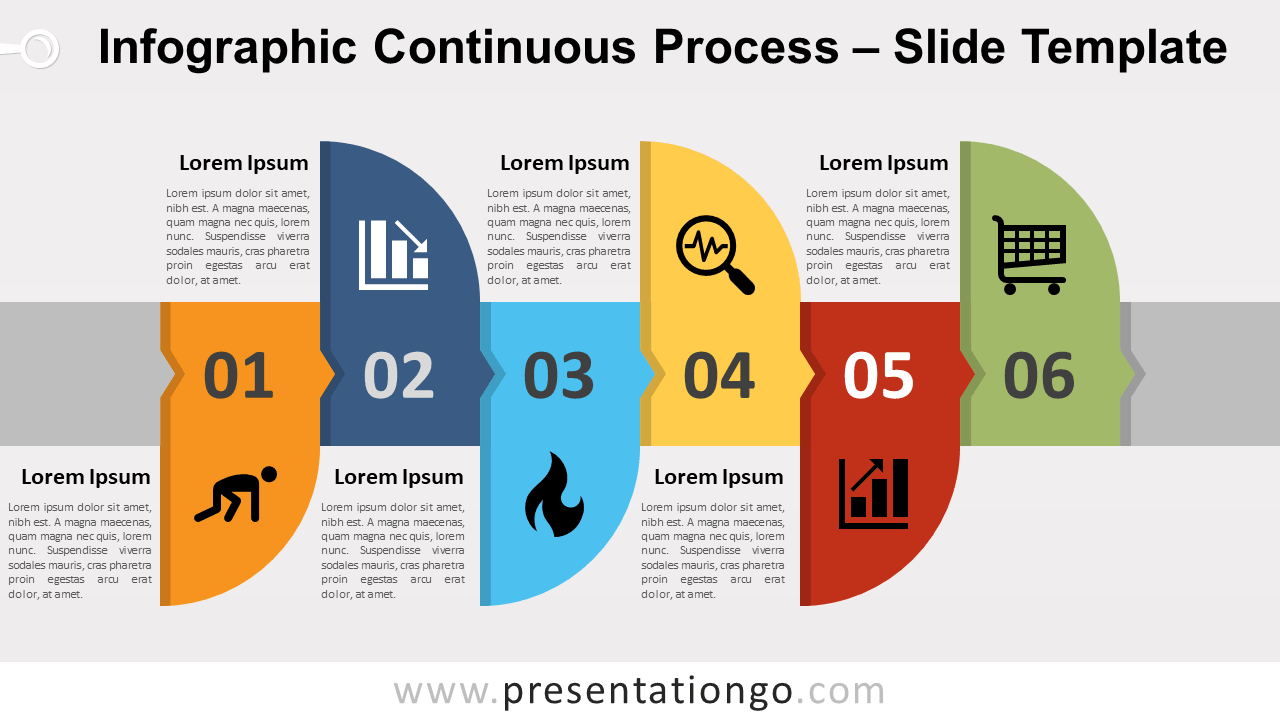 Free Infographic Continuous Process for PowerPoint and Google Slides