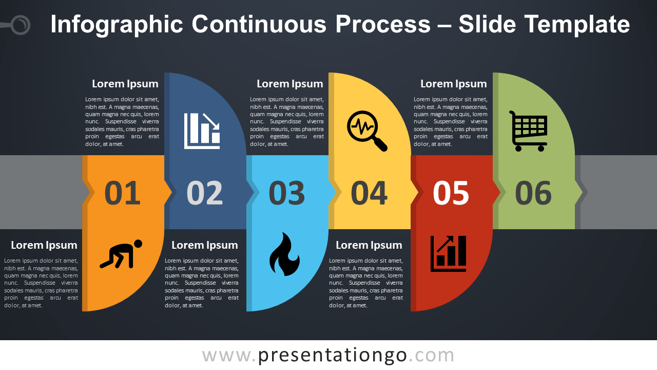Free Infographic Continuous Process for PowerPoint