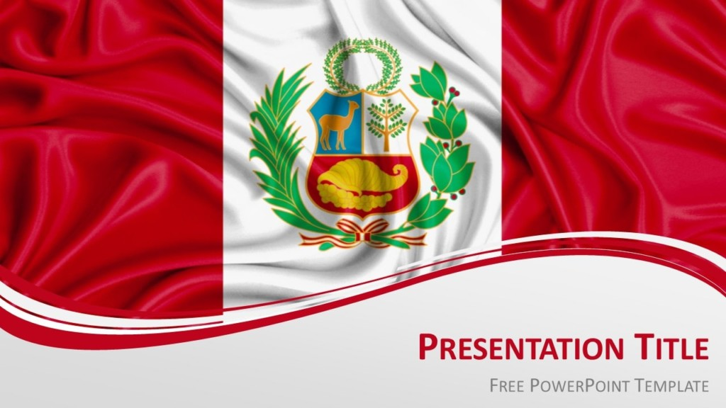 Free Peru Flag PowerPoint and Google Slides Template