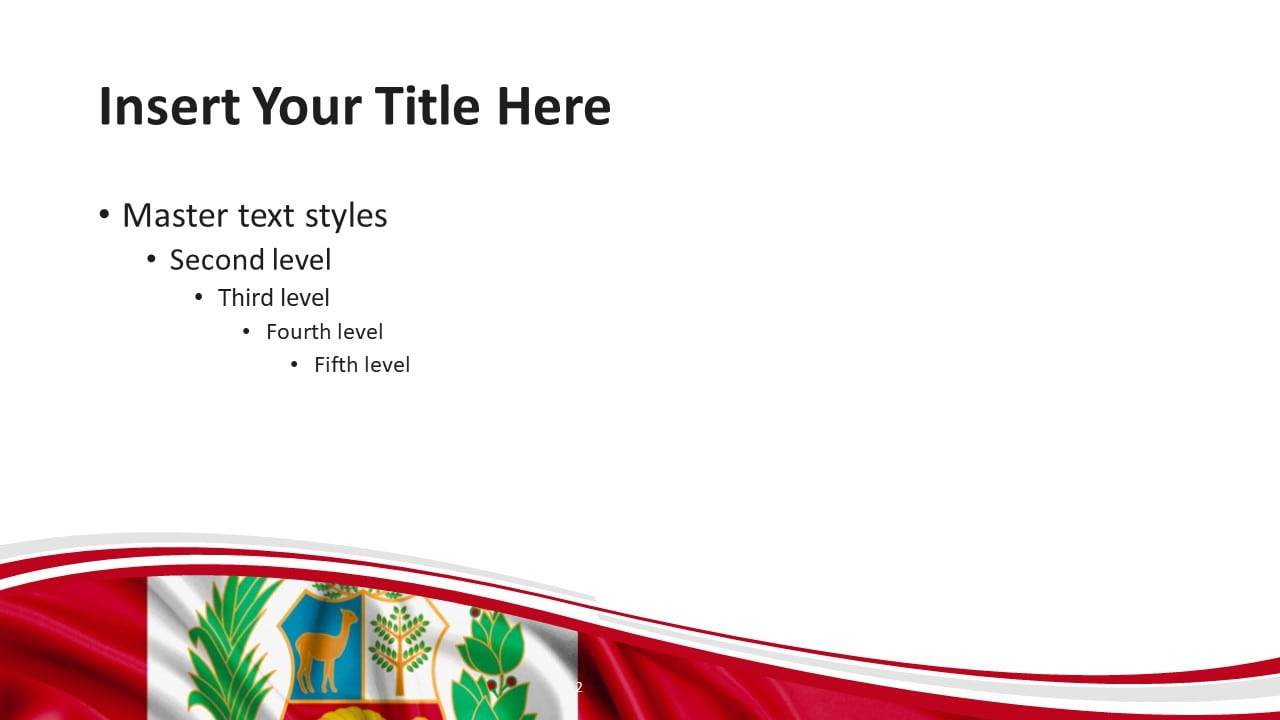 Free Peru Flag PowerPoint and Google Slides Template - Slide 2