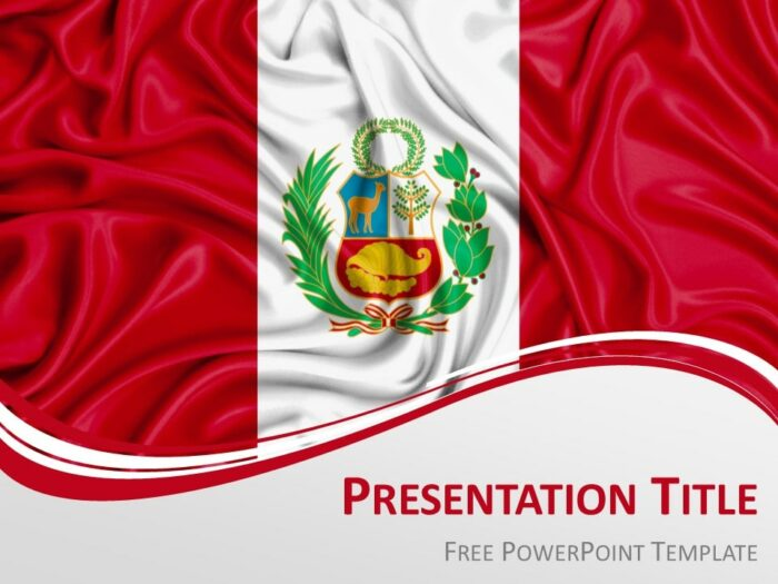 Free Peru Flag PowerPoint Template