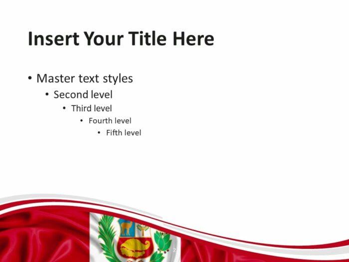 Free Peru Flag PowerPoint Template - Slide 2