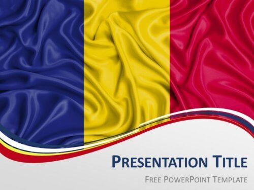 Free Romania Flag PowerPoint Template