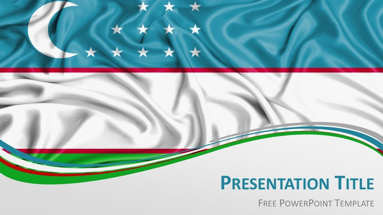 Free Uzbekistan Flag PowerPoint and Google Slides Template