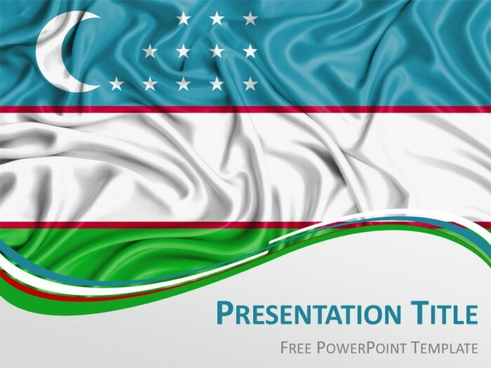 Free Uzbekistan Flag PowerPoint Template