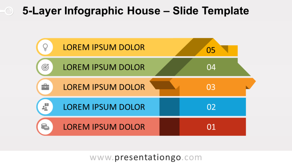 Free 5-Layer Infographic House for PowerPoint and Google Slides