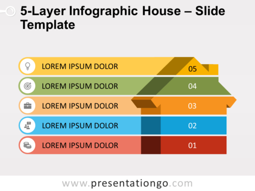 Free 5-Layer Infographic House Slide Template