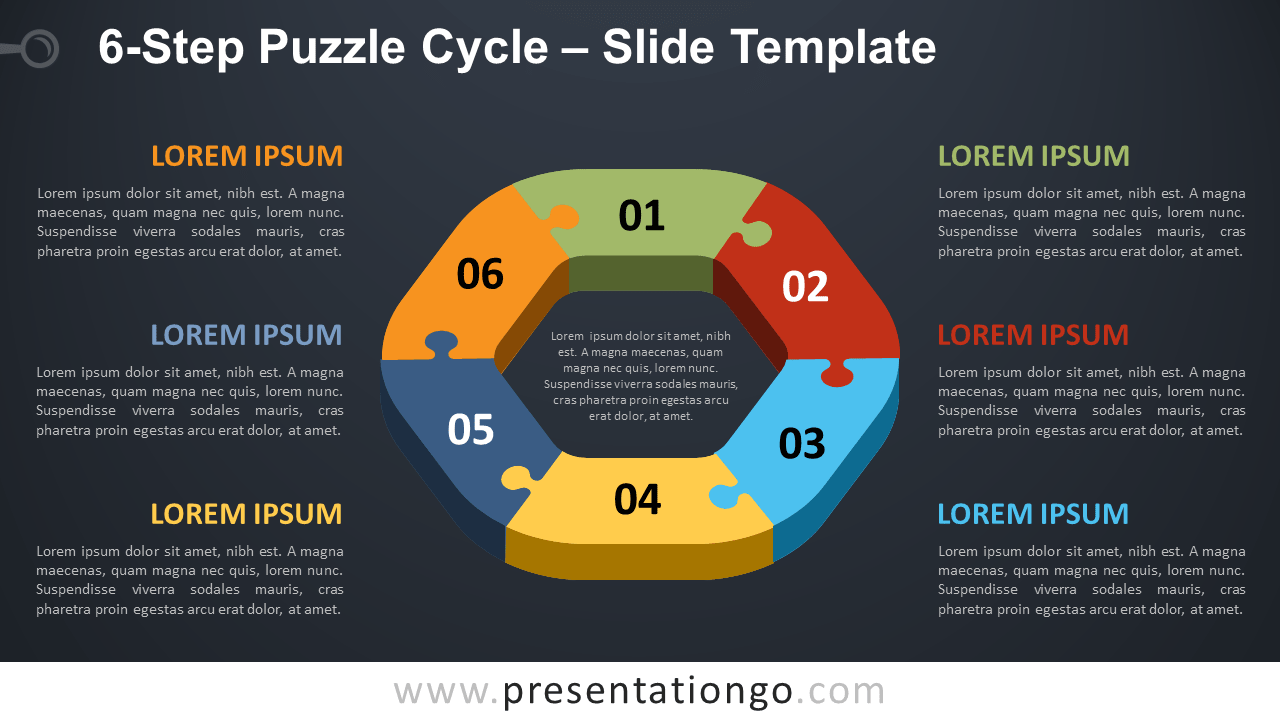 Free 6-Step Puzzle Cycle for PowerPoint