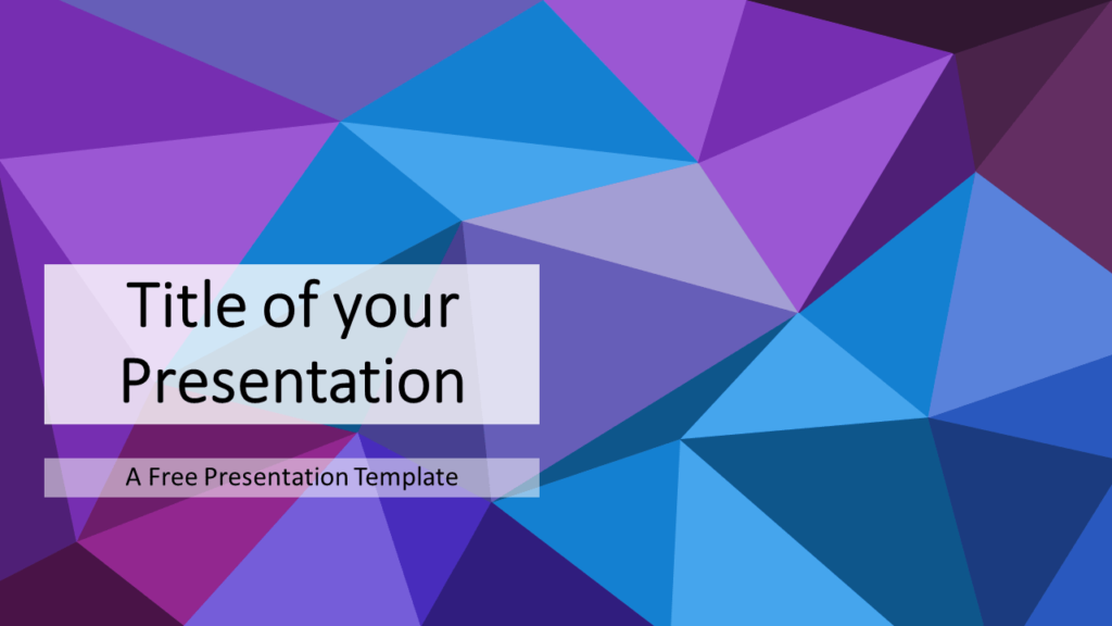 Free Blue-Purple Triangle Mosaic Template for PowerPoint and Google Slides