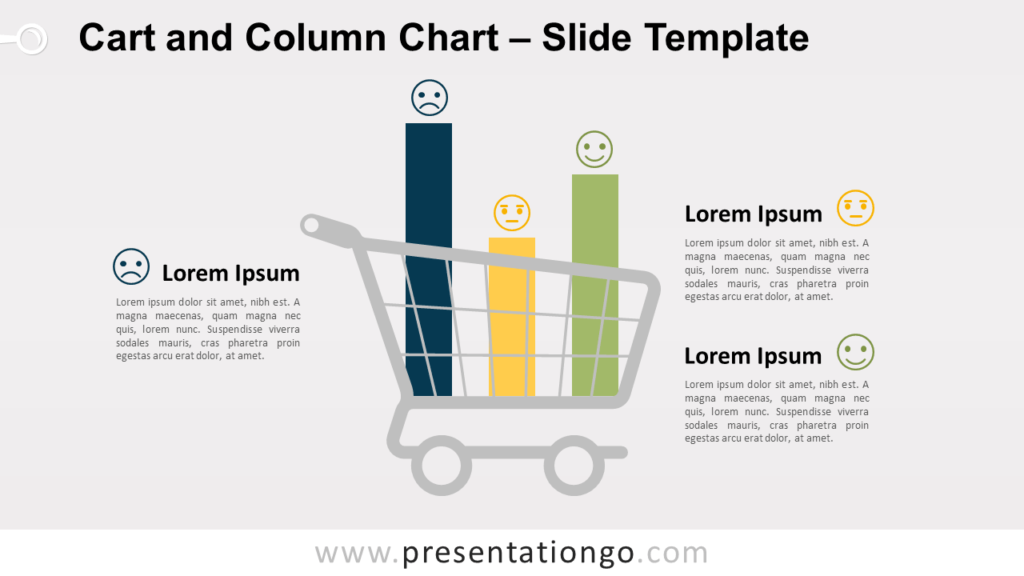 Free Cart and Column Chart for PowerPoint