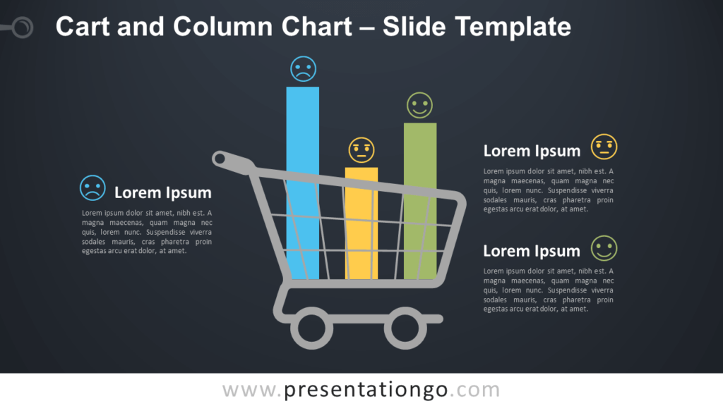 Free Cart and Column Chart PowerPoint Template