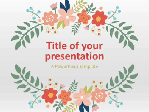 Free Floral Spring PowerPoint and Google Slides Template