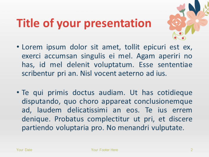 Floral Spring PowerPoint and Google Slides Template - Slide 2