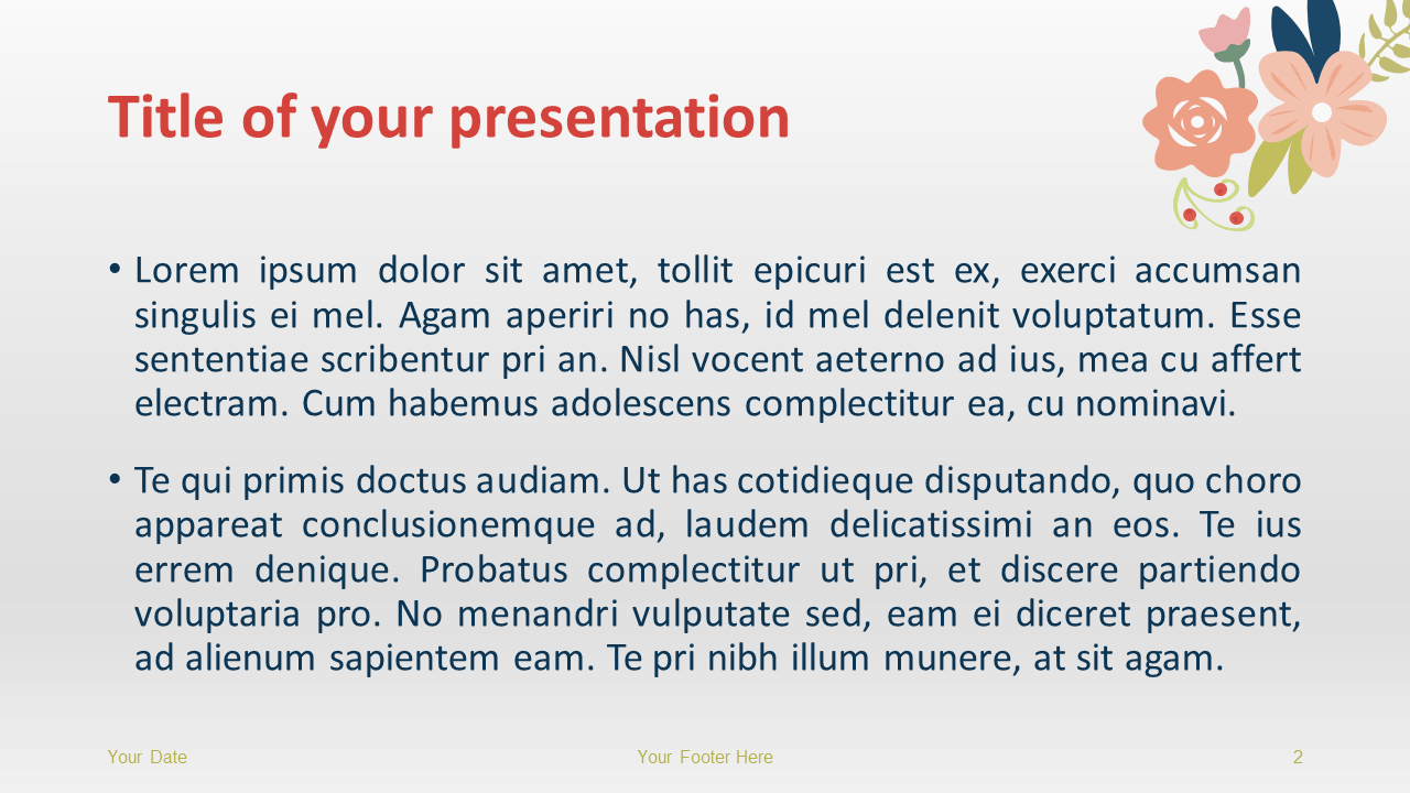 Floral Spring Template for PowerPoint and Google Slides - Slide2