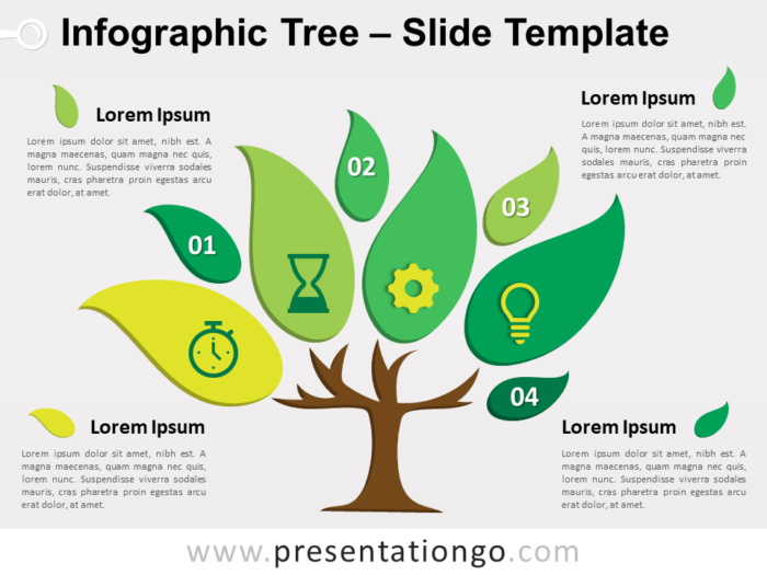 Free Infographic Tree Slide Template