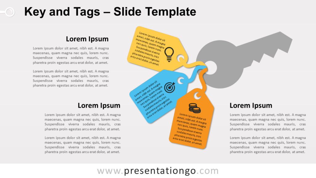 Free Key and Tags Template for PowerPoint and Google Slides