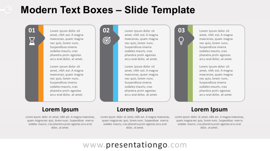 Free Modern Text Boxes for PowerPoint and Google Slides