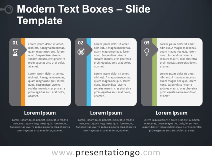 Free Modern Text Boxes Template