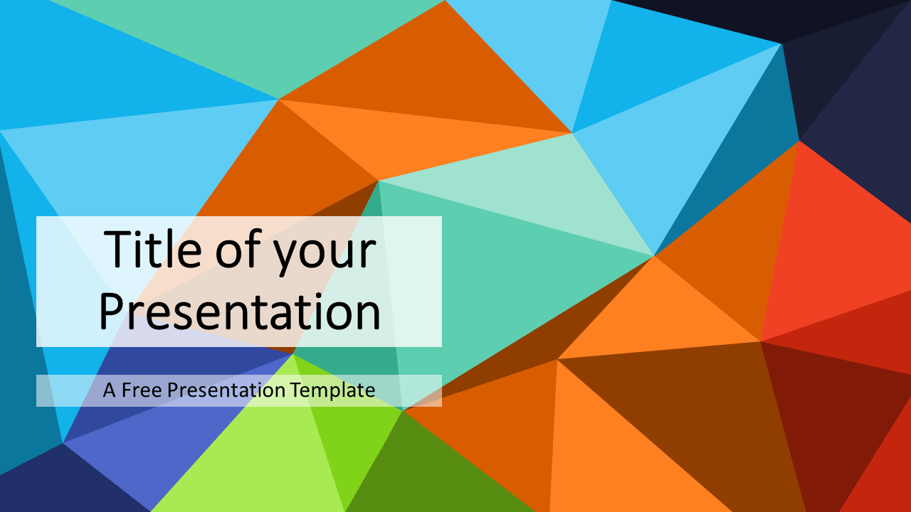 Free Multicolor (variant 1) Triangle Mosaic Template for PowerPoint and Google Slides