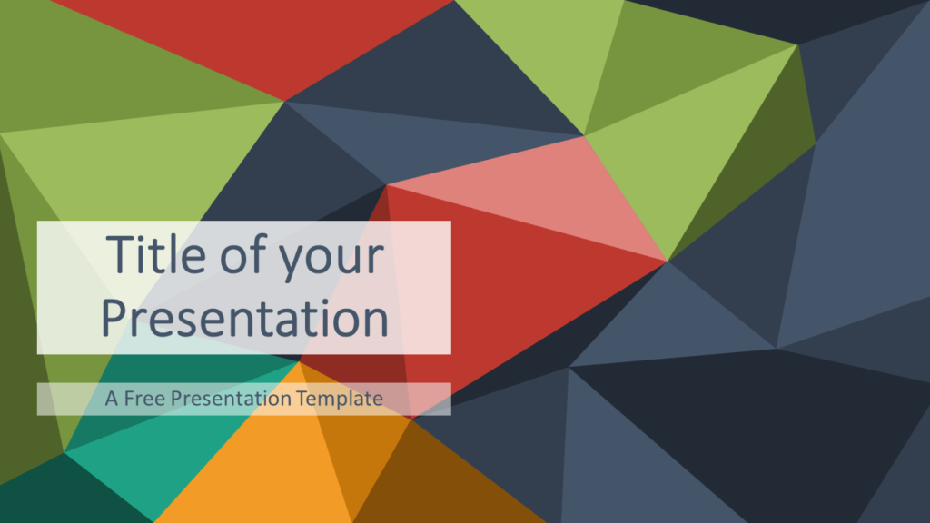 Free Multicolor (variant 2) Triangle Mosaic Template for PowerPoint and Google Slides
