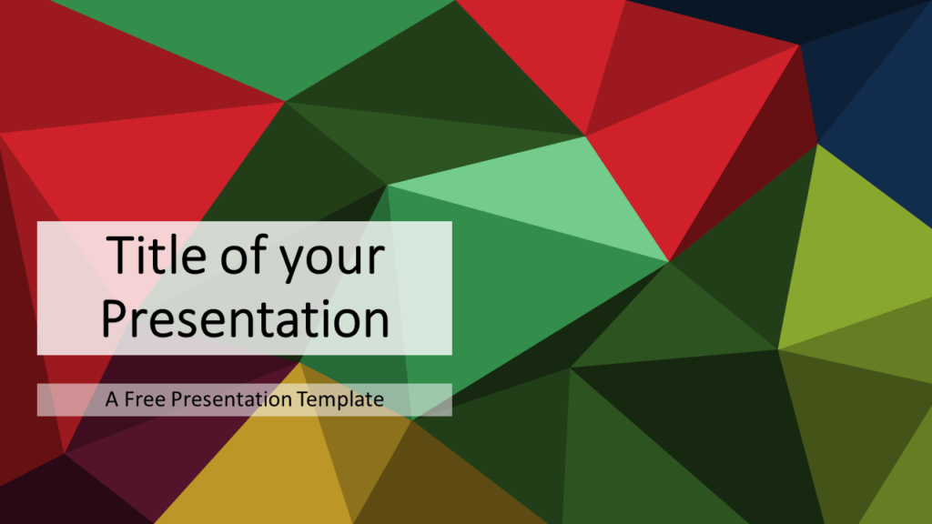 Multicolor (variant 3) Triangle Mosaic Template for PowerPoint and Google Slides