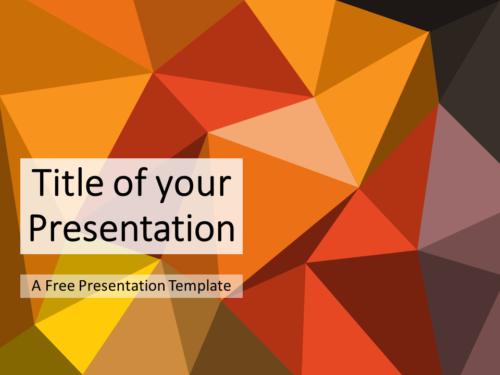 Free Orange-Brown Triangle Mosaic Template