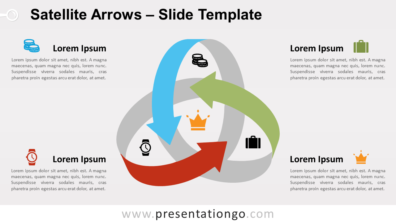 Free Satellite Arrows for PowerPoint and Google Slides