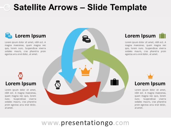 Free Satellite Arrows Slide Template