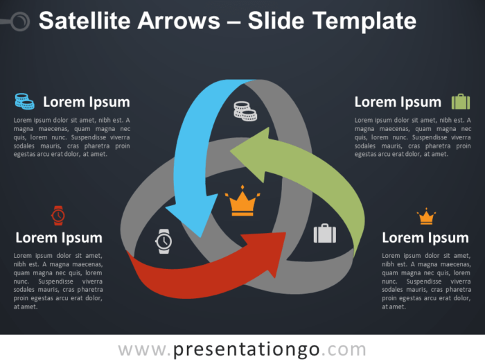 Free Satellite Arrows Template