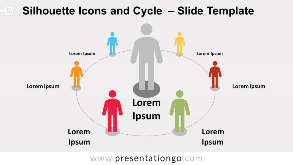 Free Silhouette Icons and Cycle for PowerPoint and Google Slides