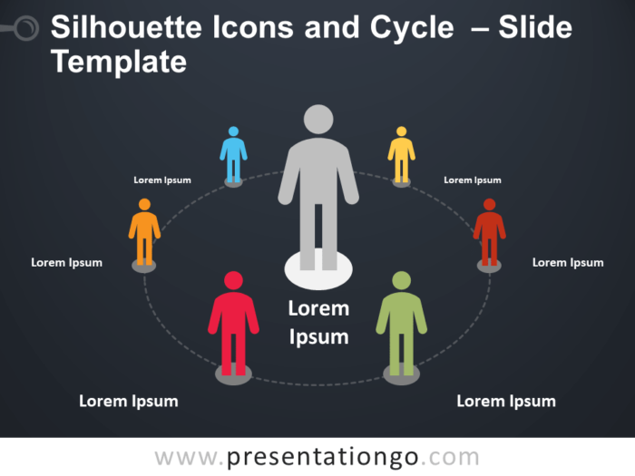 Free Free Silhouette Icons and Cycle Slide Template