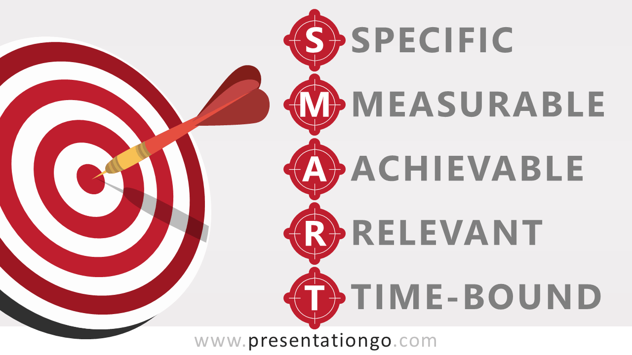 Free SMART Goals and Target for PowerPoint and Google Slides