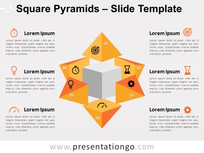 Free Square Pyramids Slide Template