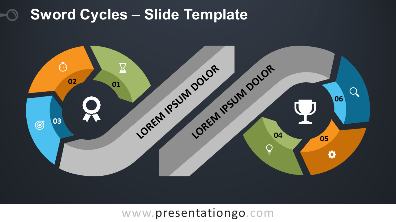 Free Sword Cycles for PowerPoint