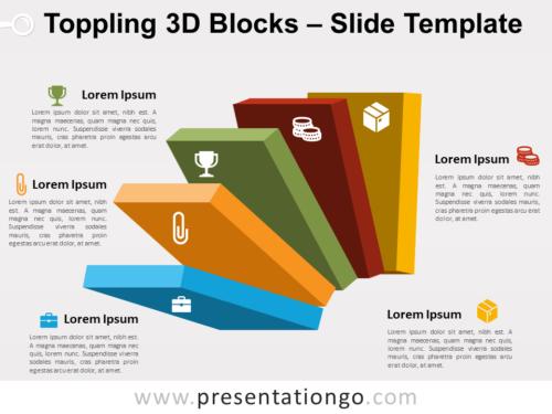 Free Toppling 3D Blocks Slide Template