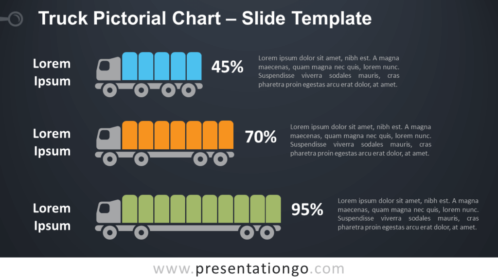 Free Truck Pictorial Chart for PowerPoint
