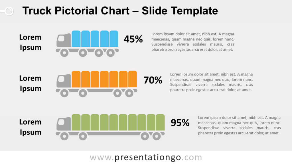 Free Truck Pictorial Chart for PowerPoint and Google Slides