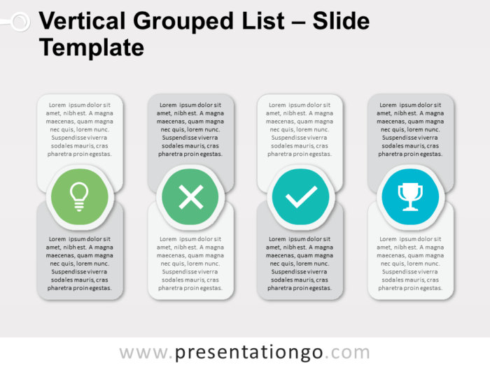 Free Vertical Grouped List