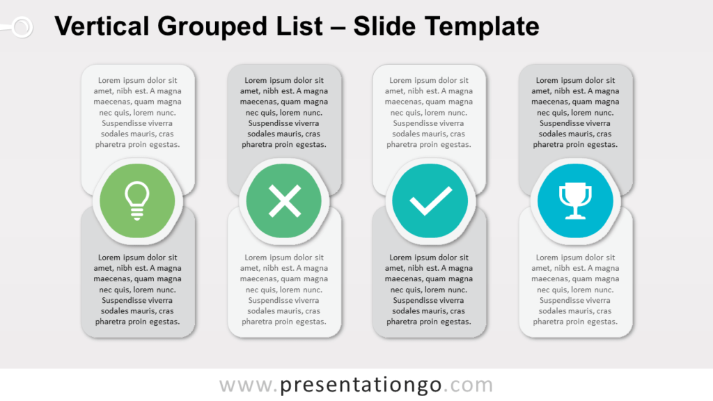 Free Vertical Grouped List for PowerPoint and Google Slides