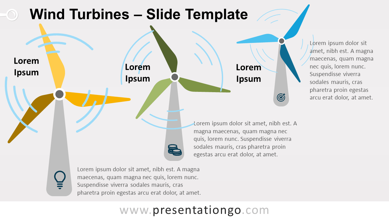 Free Wind Turbines Template for PowerPoint and Google Slides