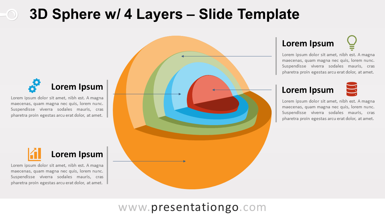 Free 3D Sphere with 4 Layers for PowerPoint and Google Slides