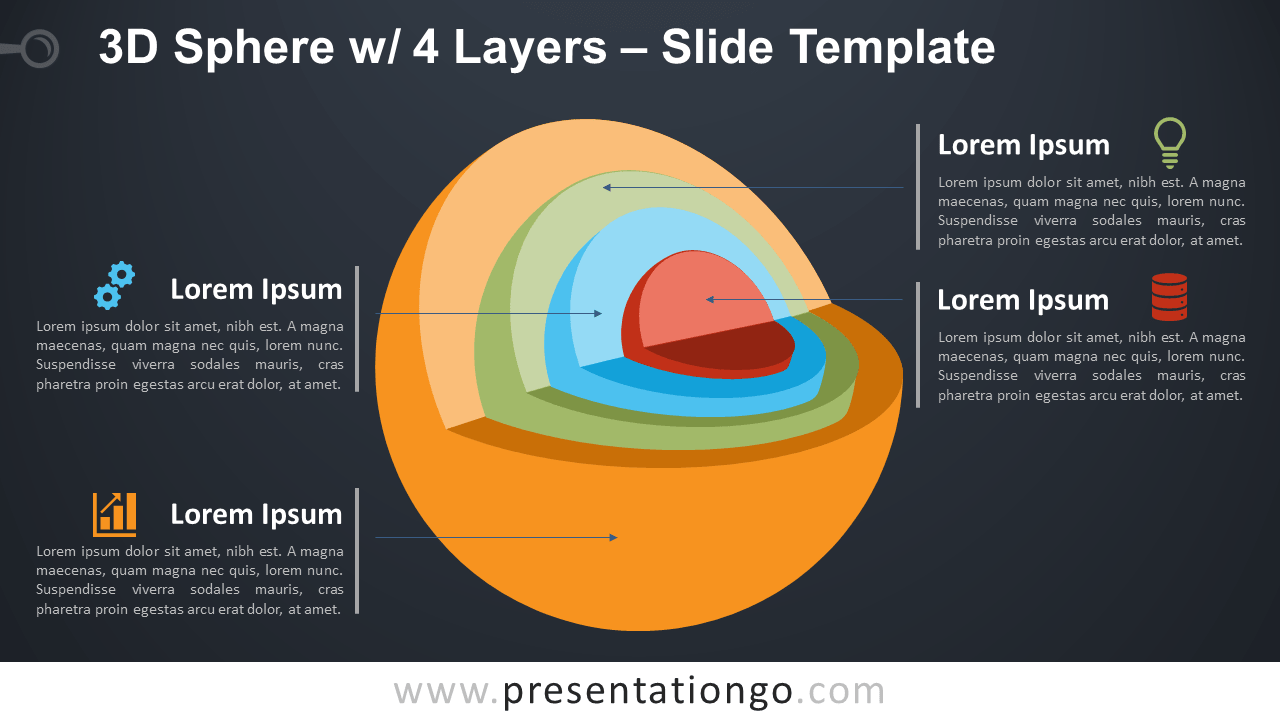 Free 3D Sphere with 4 Layers for PowerPoint