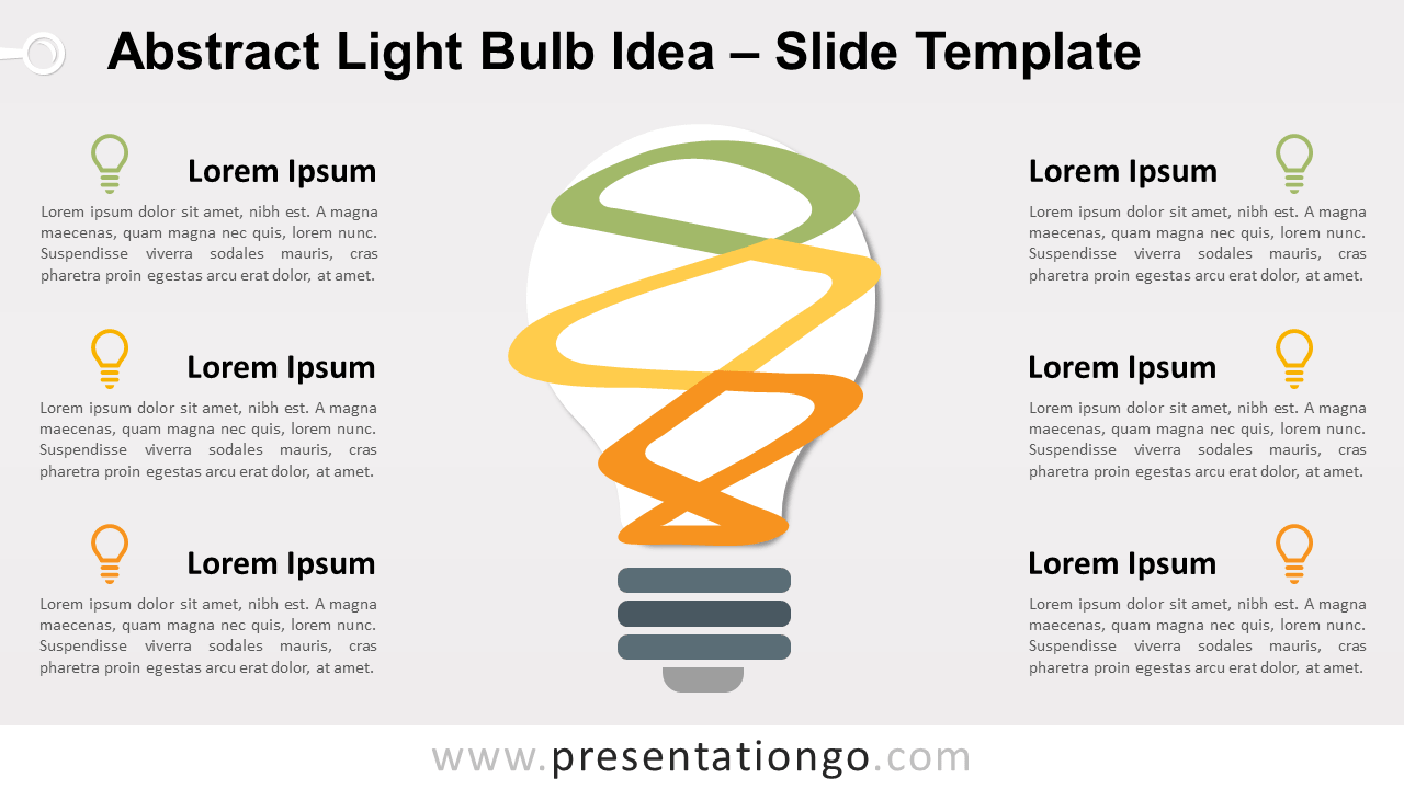 Free Abstract Bulb Idea Diagram for PowerPoint and Google Slides