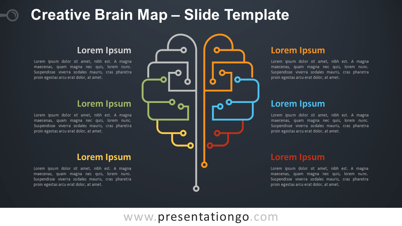 Free Creative Brain Map for PowerPoint