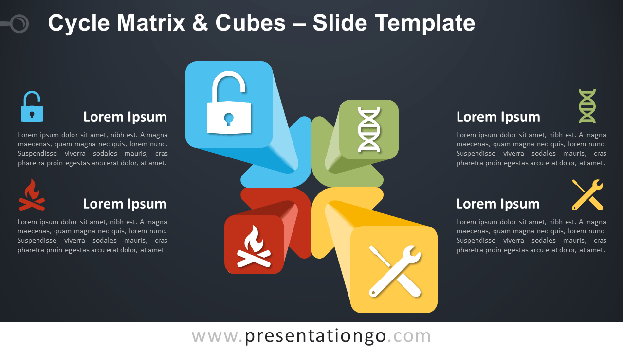 Free Cycle Matrix and Cubes for PowerPoint