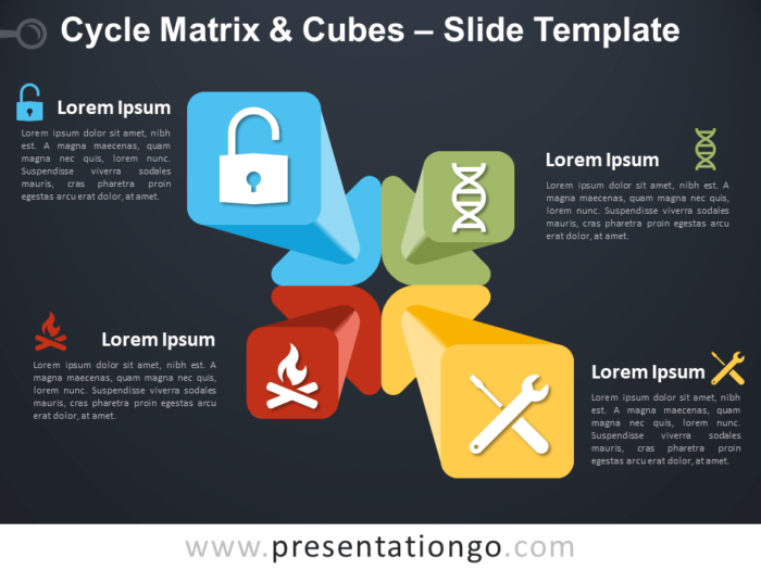 Free Cycle Matrix and Cubes Template