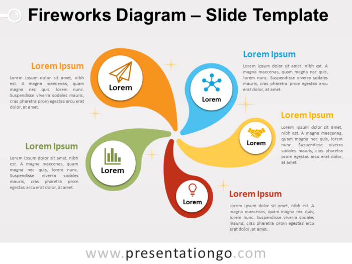 Free Fireworks Diagram PowerPoint Template