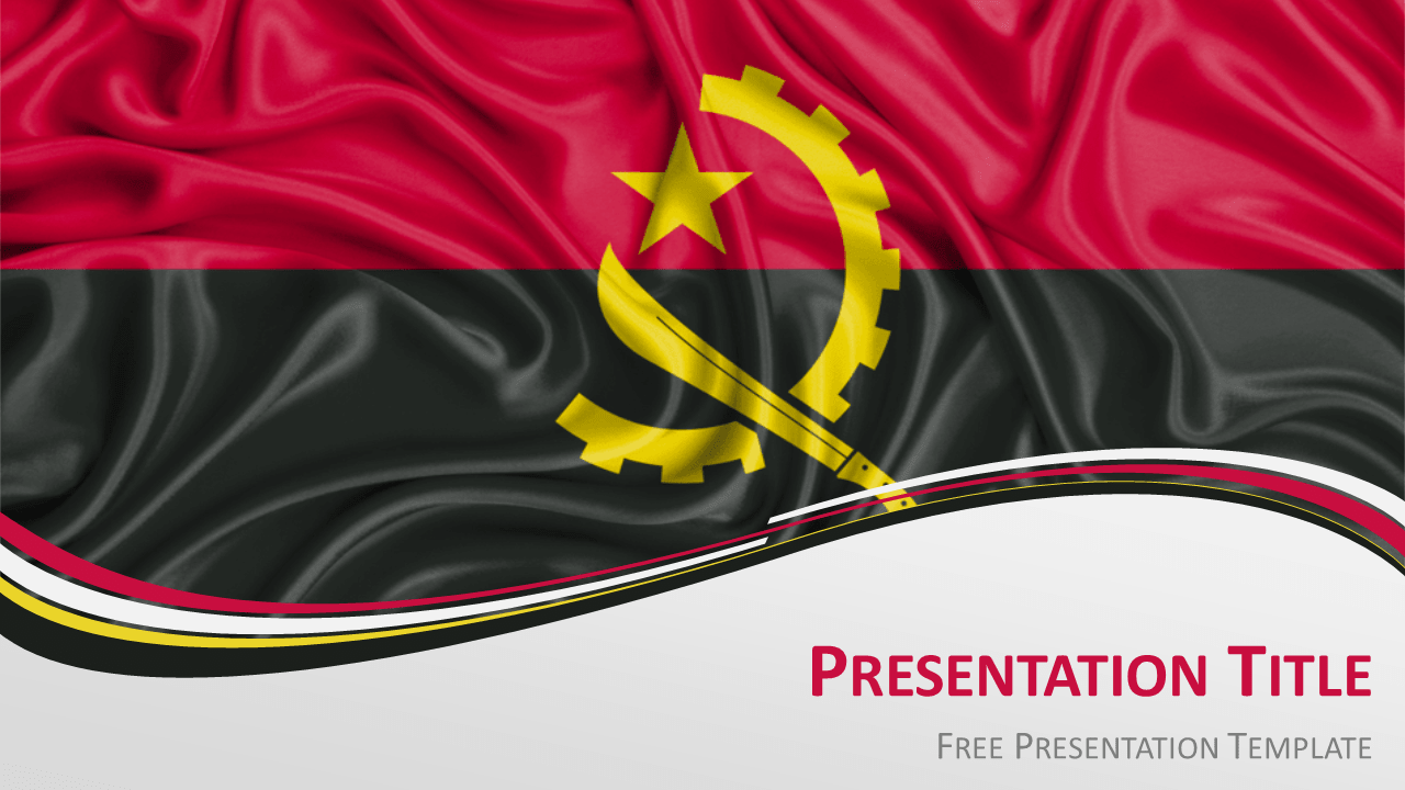 Free Angola Flag PowerPoint and Google Slides Template