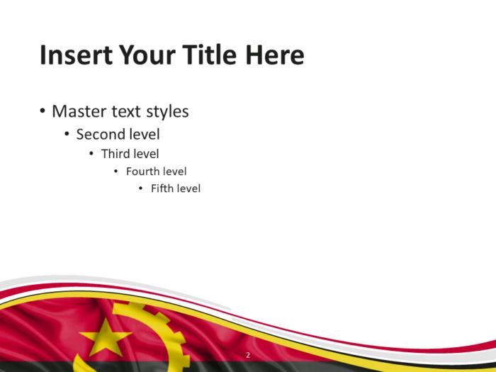 Angola Flag PowerPoint Template - Slide 2