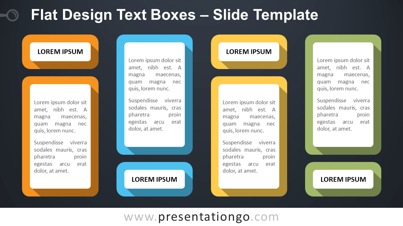 Free Flat Design Text Boxes for PowerPoint